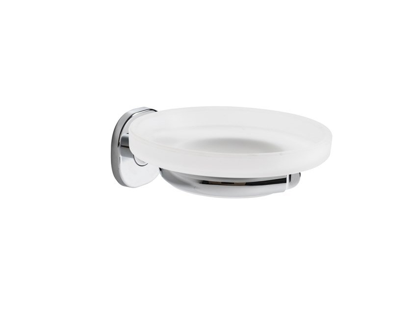 Wall-mounted satin glass soap dish ELLEPI | Soap dish by INDA®