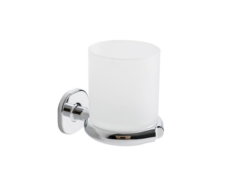 Wall-mounted satin glass toothbrush holder ELLEPI | Toothbrush holder by INDA®