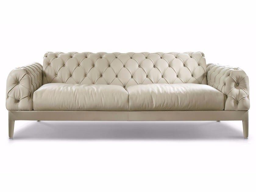 Tufted Leather Sofa ELLIOT   Leather Sofa By CTS SALOTTI