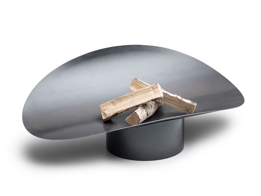 Wood-fired Corten™ barbecue ELLIPSE by höfats