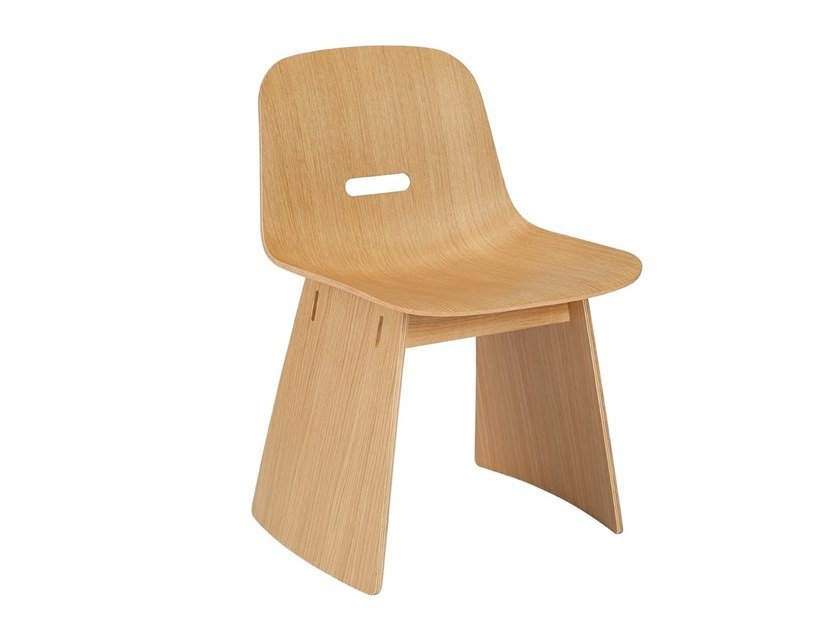 Japanese style sled base plywood chair ELLIPSE | Chair by ZENS Lifestyle