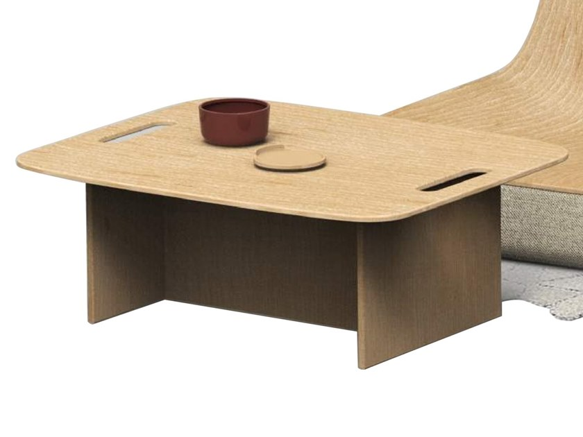 Low rectangular oak coffee table ELLIPSE | Coffee table by ZENS Lifestyle