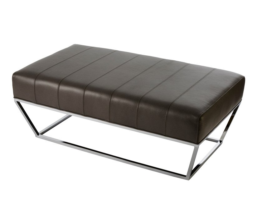 Leather pouf bed ELLIS | Ottoman by Douglas Design Studio