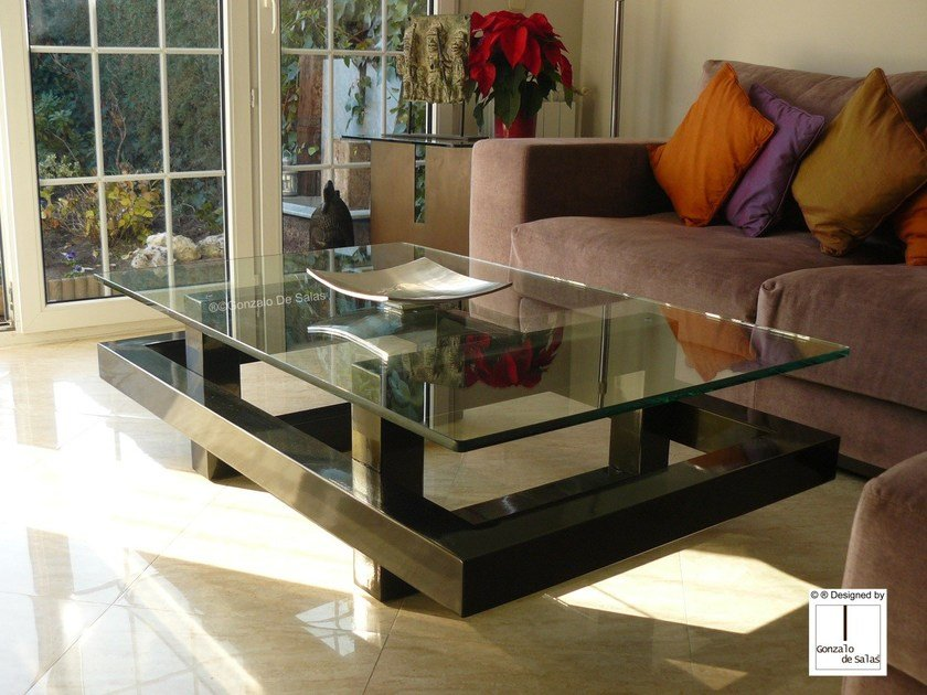 Glass Coffee Table Elos By Gonzalo De Salas.