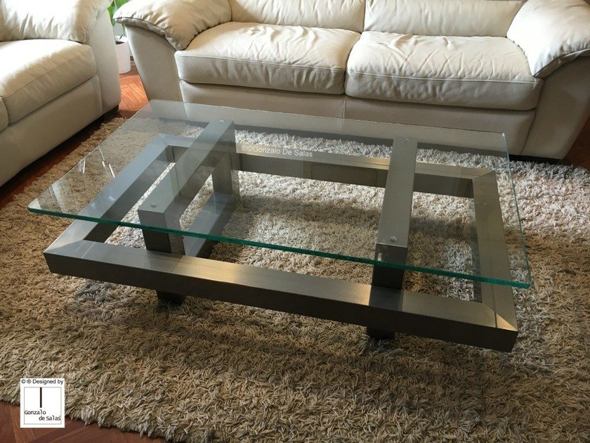 Glass coffee table ELOS by Gonzalo De Salas