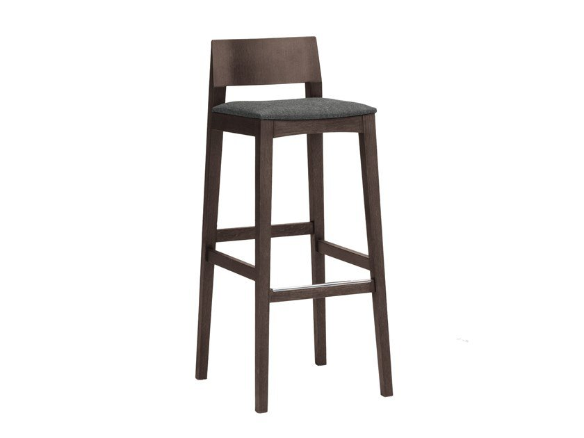 High barstool with footrest ELSA | CONTRACT | High stool by PIAVAL