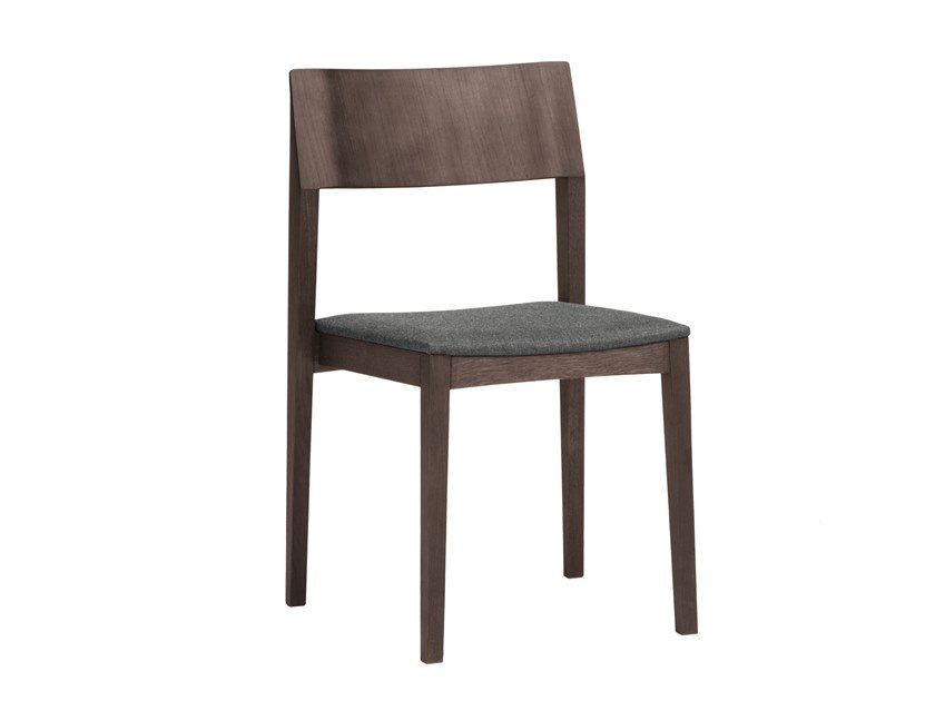 Stackable wooden chair ELSA | CONTRACT | Chair by PIAVAL