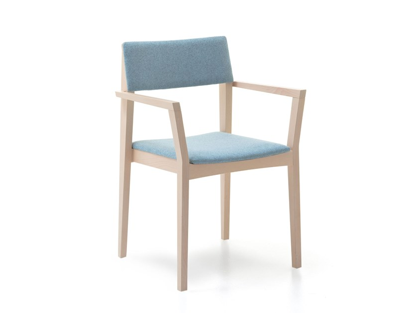 Fabric chair with armrests ELSA | HEALTH & CARE | Chair with armrests by PIAVAL
