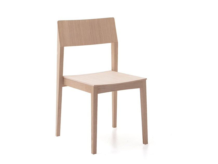 Stackable wooden chair ELSA | HEALTH & CARE | Wooden chair by PIAVAL