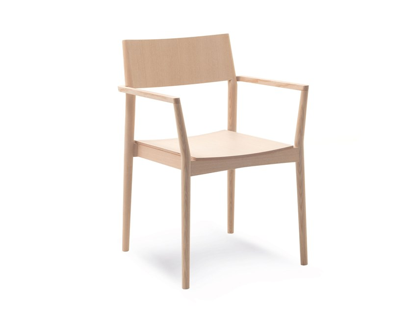 Wooden chair with armrests ELSA | HEALTH & CARE | Wooden chair by PIAVAL