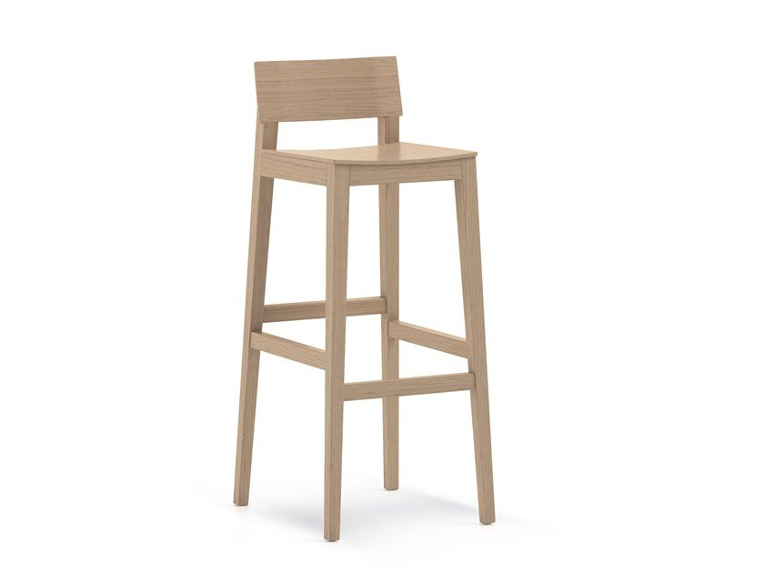 High wooden barstool ELSA | HEALTH & CARE | Wooden stool by PIAVAL