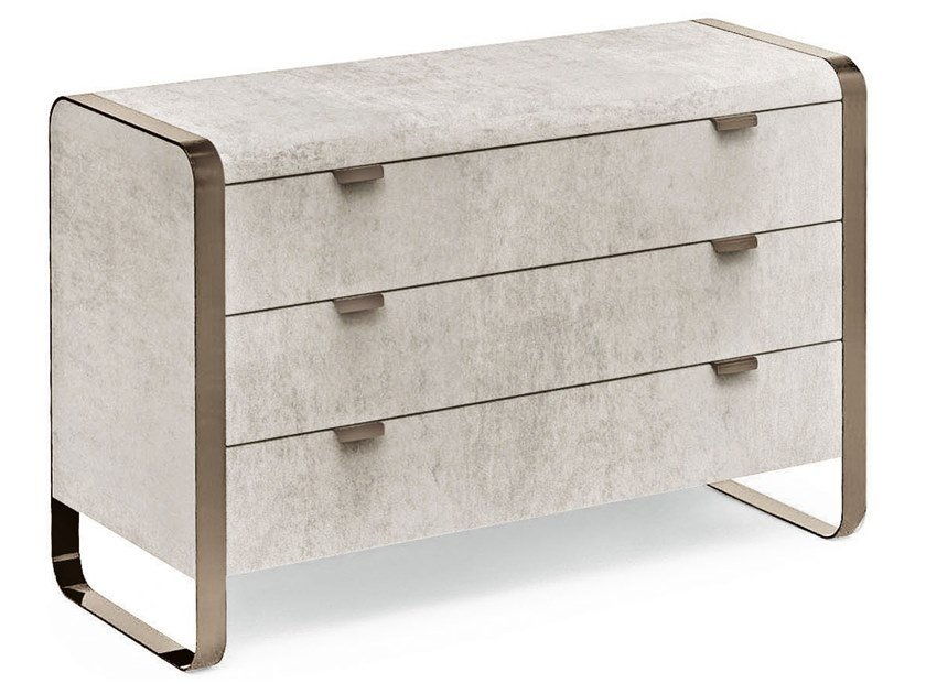 Leather chest of drawers ELVIS | Chest of drawers by Cantori