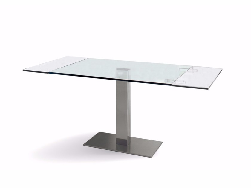 Extending crystal table ELVIS DRIVE by Cattelan Italia