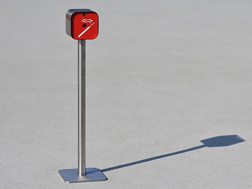 Posacenere per spazi pubblici in acciaio ELVIS by LAB23