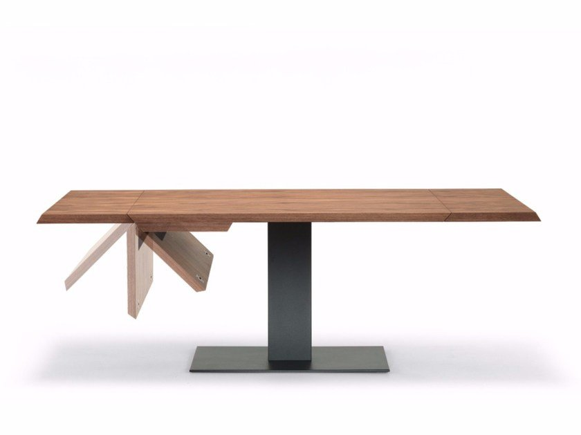 Extending rectangular wooden table ELVIS WOOD DRIVE by Cattelan Italia