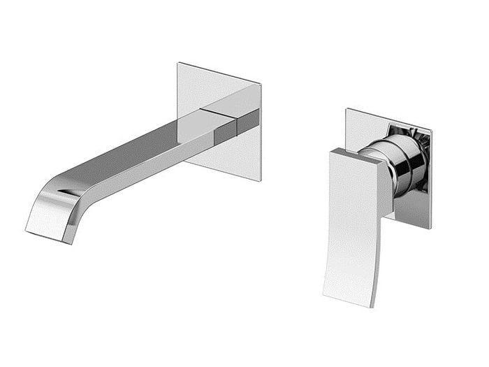 Miscelatore per lavabo a 2 fori a muro ELY | Miscelatore lavabo a muro by Gattoni Rubinetteria