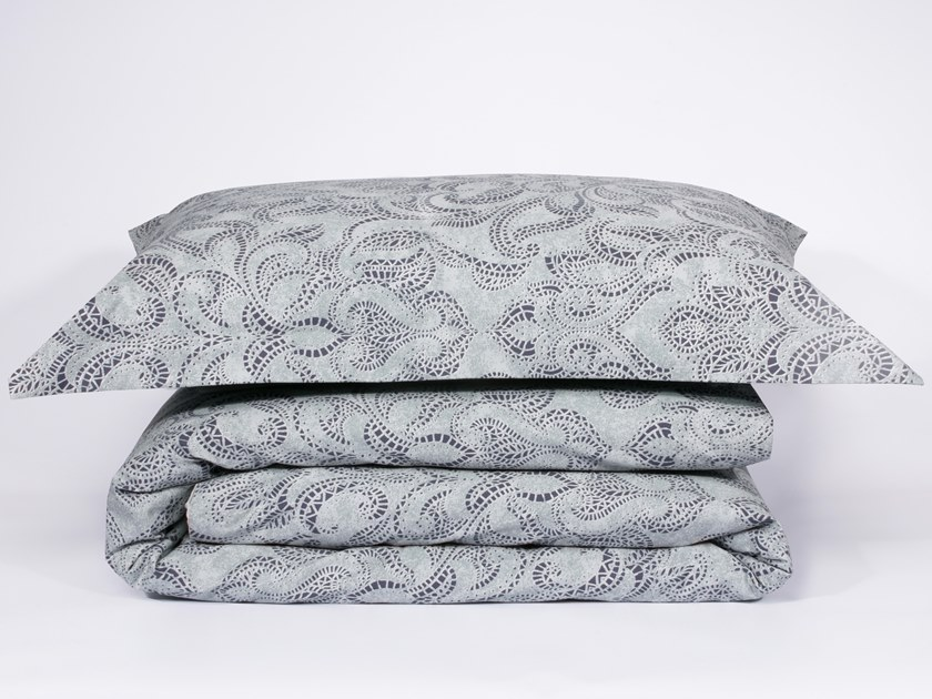 Cotton bedding set with graphic pattern ELYSIAN | Bedding set by Decoflux