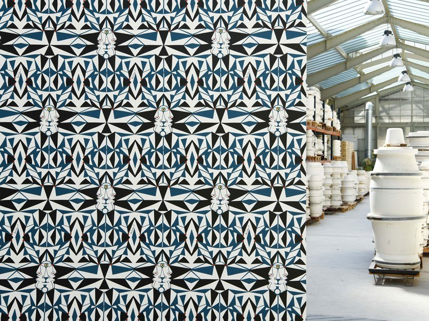Motif geometric nonwoven wallpaper EMAIL by LELIEVRE