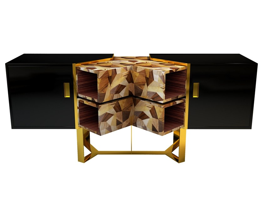 Lacquered wooden sideboard with doors EMEL | Sideboard by Malabar