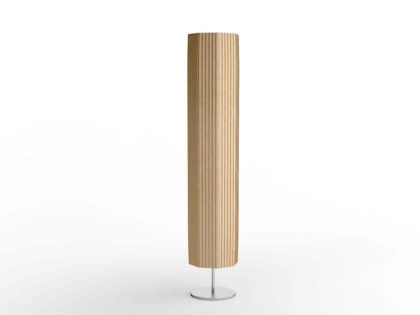 Lampada da terra a luce diretta e indiretta in acciaio in stile moderno EMERALD   Lampada da terra in acciaio by Caroti