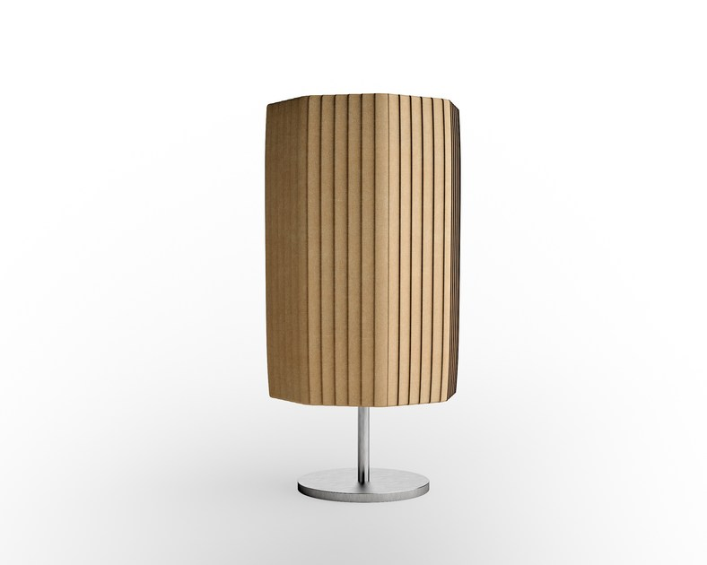 Contemporary style steel bedside lamp with fixed arm EMERALD | Steel table lamp by Caroti