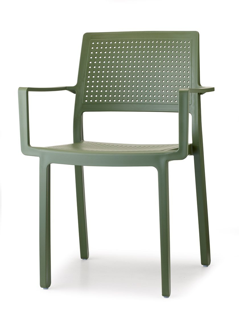 Technopolymer restaurant chair with armrests EMI | Chair with armrests by SCAB DESIGN