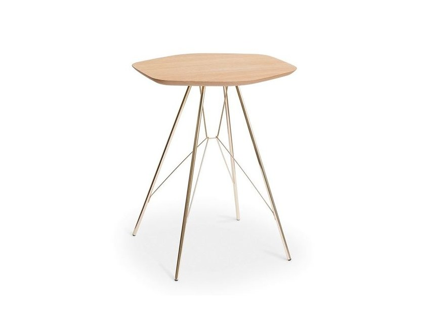 Steel and wood coffee table EMIL 646 by Zanotta