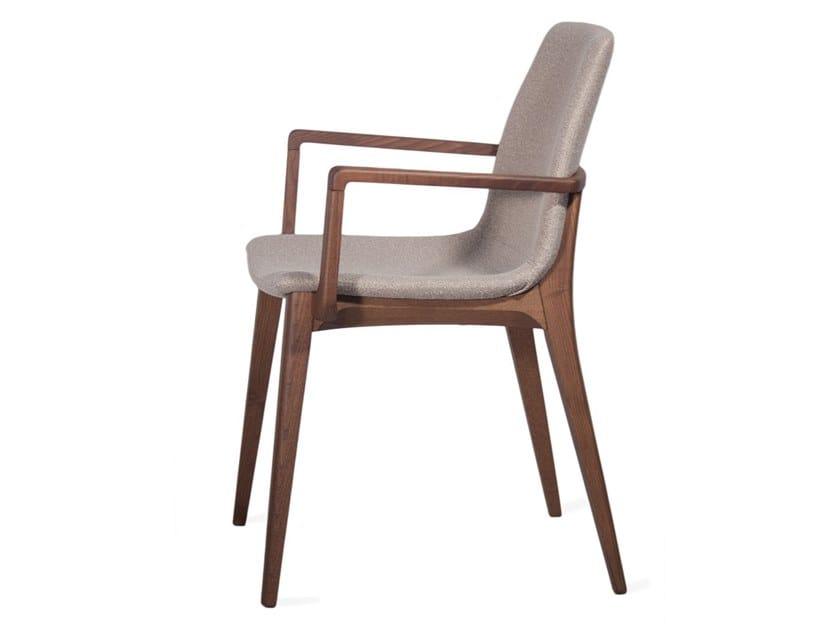 Sedia in tessuto con braccioli EMILY | Sedia con braccioli by INTERNA8
