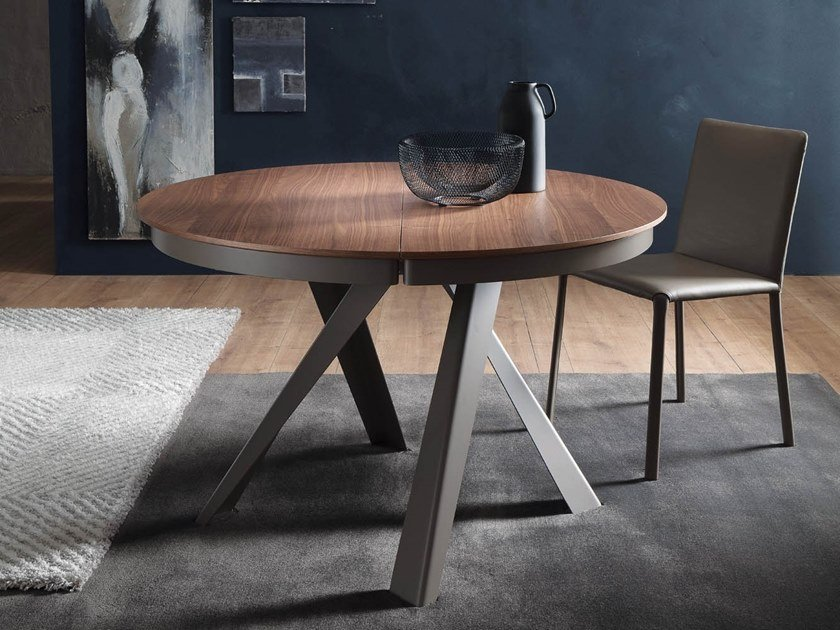 Extending wooden table EMISFERO LEGNO by Ozzio Italia