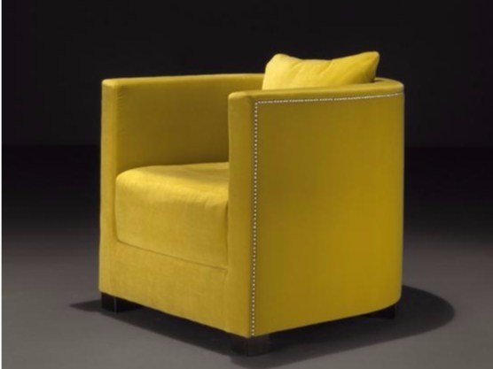 Fabric armchair with armrests EMMA by Casamilano