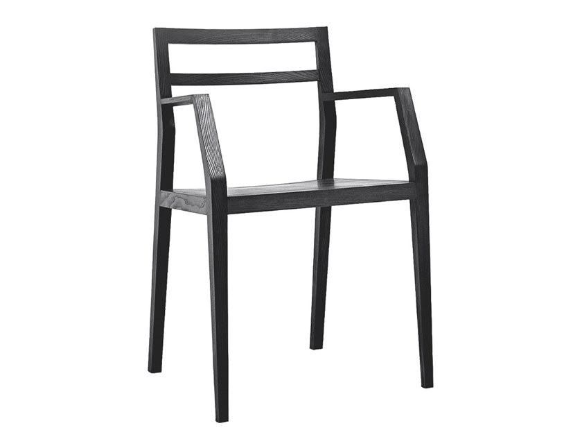 Open back chair with armrests EMMA by MINT FACTORY