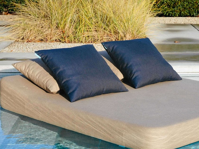 Square outdoor fabric cushion EMMA by MR BLUE SKY