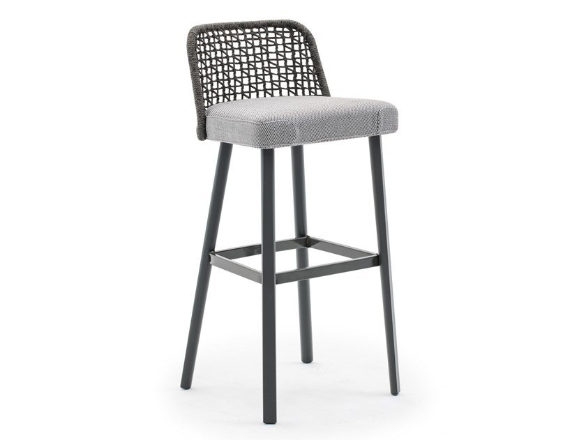High garden stool with footrest EMMA | High stool by Varaschin