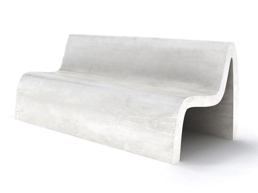 Bench with back EMME by LAB23