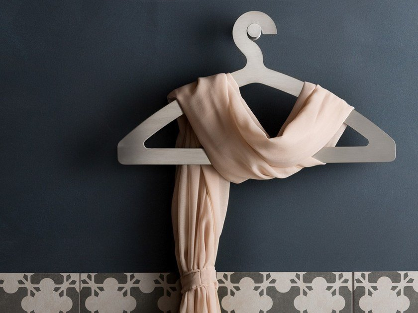 Stainless steel robe hook EMME 20123 by MINA