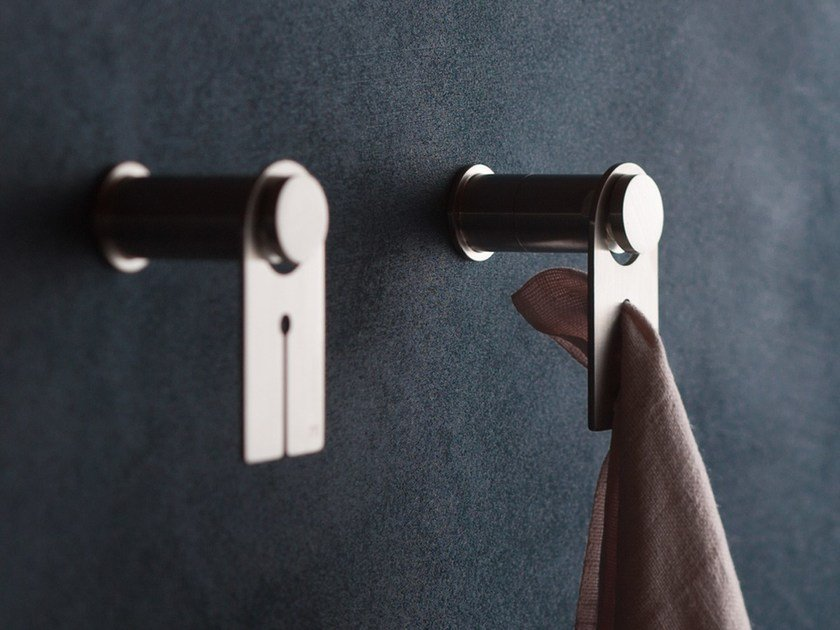 Stainless steel towel hook EMME 1580 by MINA