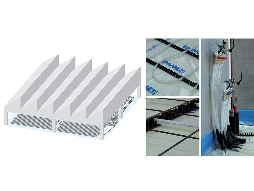 Floor heating and cooling industrial system EMMETI INDUSTRIAL FLOOR by EMMETI