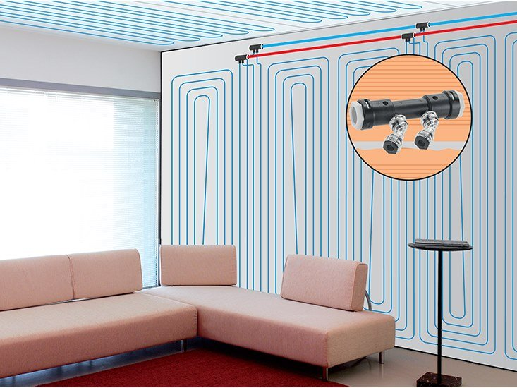 Plasterboard heating and cooling system EMMETI PLASTERBOARD by EMMETI