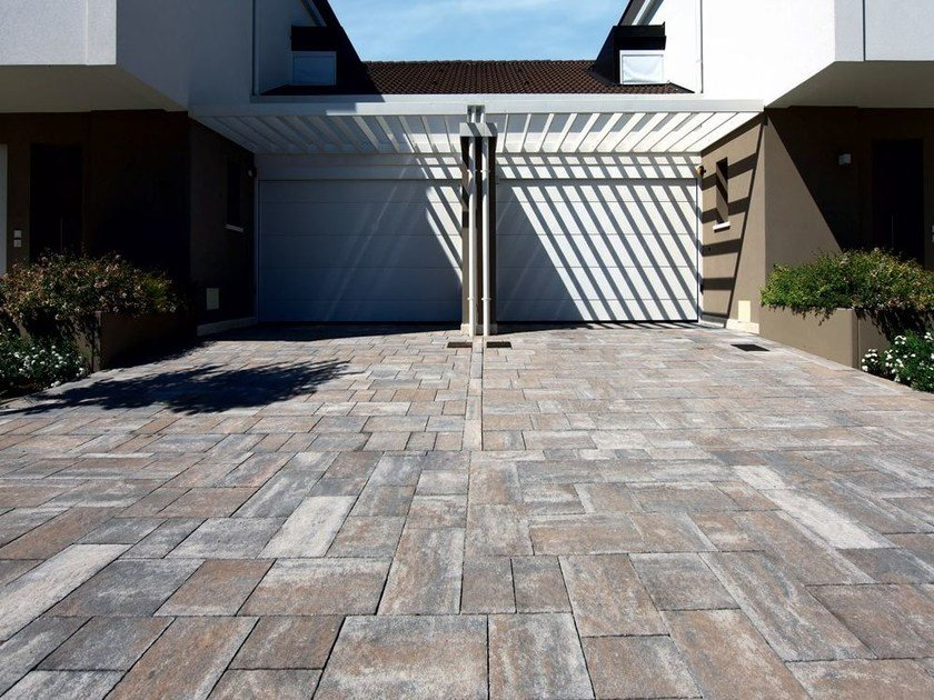 Cement outdoor floor tiles EMOTION by FAVARO1