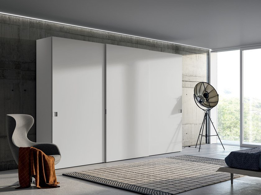 Lacquered wardrobe with sliding doors EMOTION UP EM24 by Dall'Agnese