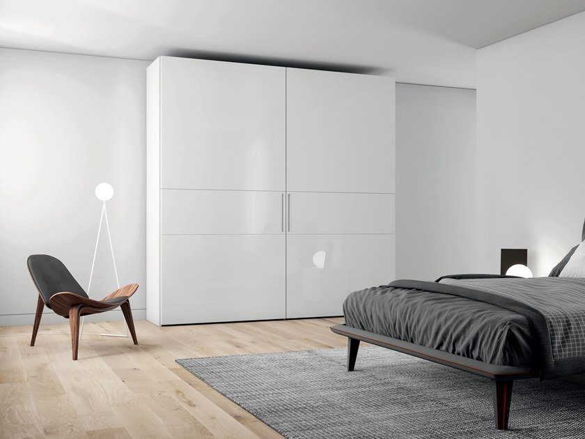 Lacquered wardrobe with coplanar doors EMOTION UP EM31 by Dall'Agnese
