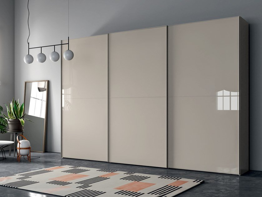 Glass wardrobe with sliding doors EMOTION UP EM33 by Dall'Agnese