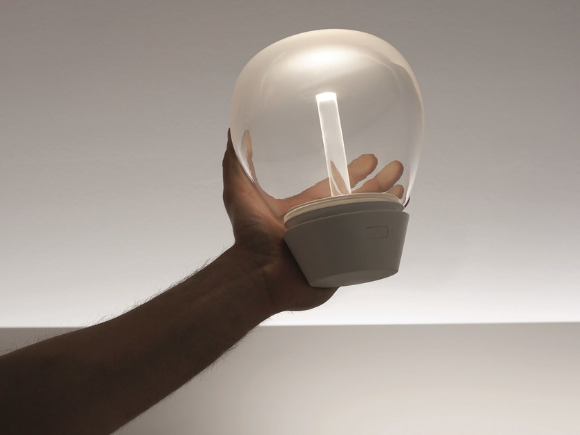 LED blown glass table lamp EMPATIA MOBILE by Artemide