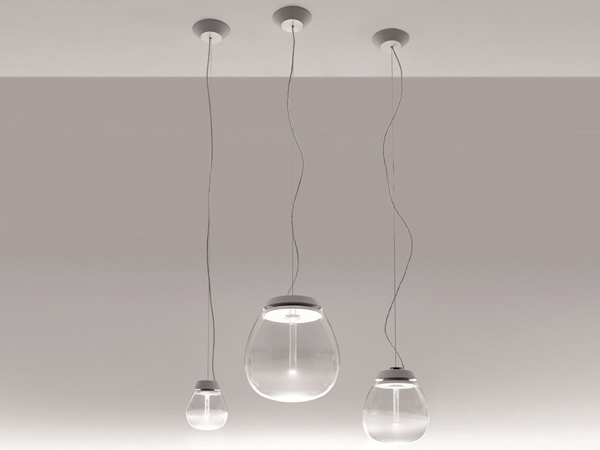 Lámpara colgante LED de vidrio soplado EMPATIA | Lámpara colgante by Artemide