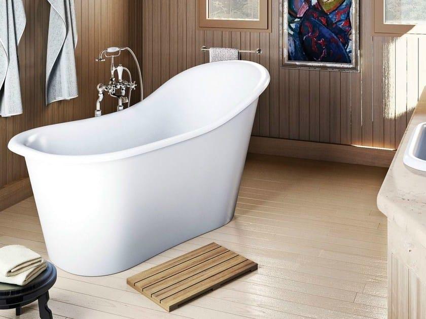 Freestanding oval bathtub on legs EMPEROR by Polo