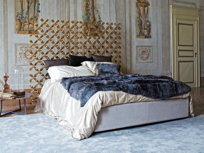 Metal double bed with high headboard EMPIRE | Bed with high headboard by CIACCI