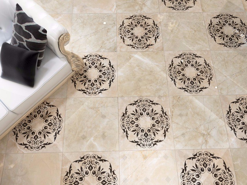 Ceramic granite flooring with marble effect EMPIRE By