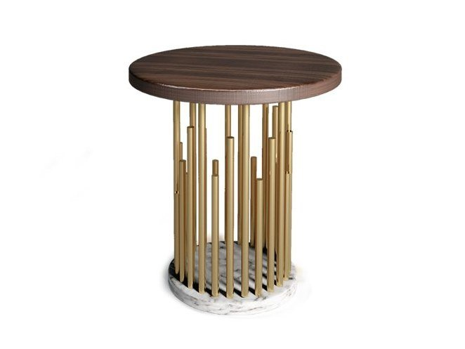 Round side table EMPIRE | Side table by Duquesa & Malvada