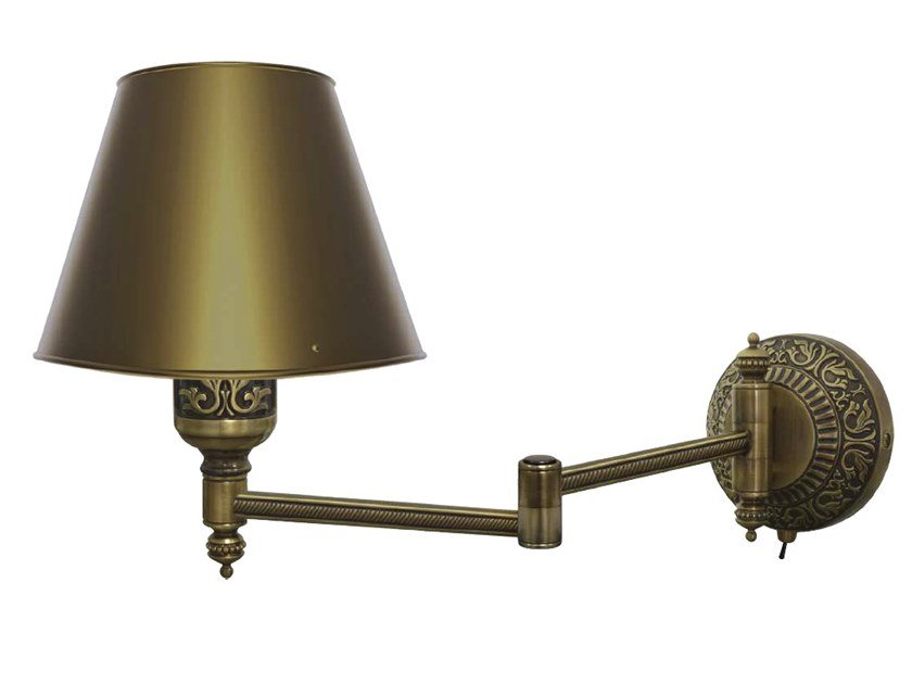 Adjustable brass wall lamp EMPORIO HOTEL II | Wall lamp by FEDE