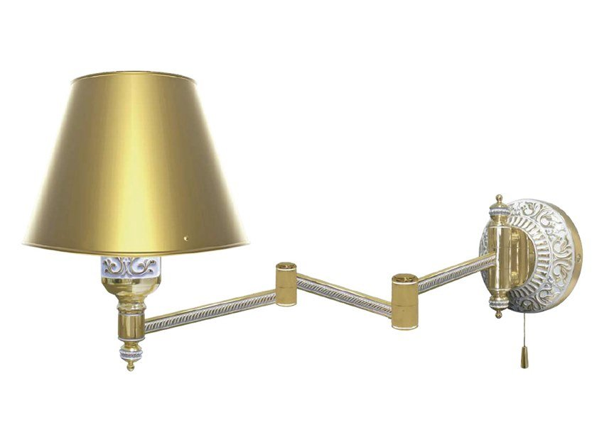 Adjustable brass wall lamp EMPORIO HOTEL III | Wall lamp by FEDE